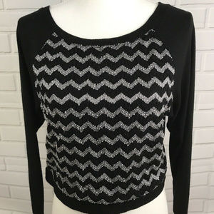 Ambiance Apparel Womens Cropped Black Sweater